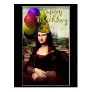 Mona Lisa - la fille d'anniversaire Carte Postale