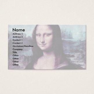 Mona Lisa (La Giaconda)  By Leonardo Da Vinci (Bes Business Card