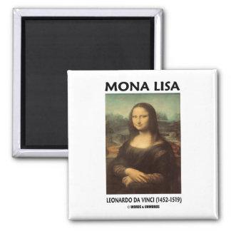Mona Lisa (Leonardo da Vinci) Square Magnet