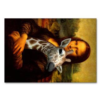 Mona Lisa Loves Giraffes Table Cards