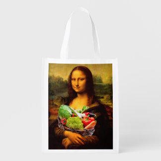 Mona Lisa Loves Vegetables Grocery Bags
