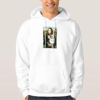 Mona Lisa - Merle Welsh Corgi Hoodie