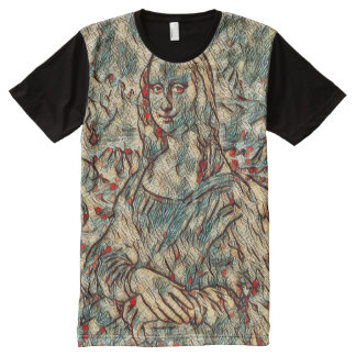 Mona Lisa Modern Portrait All-Over-Print T-Shirt