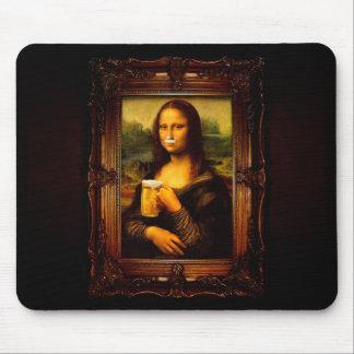 Mona lisa - mona lisa beer  - funny mona lisa-beer mouse pad