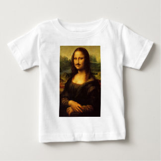 mona lisa mustache baby T-Shirt