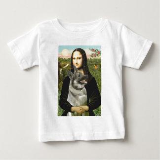 Mona- Lisa - Norwegian Elkhound Baby T-Shirt
