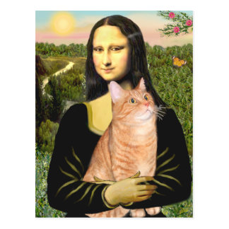 Mona Lisa - Orange Tabby SH 46 Postcard