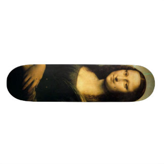 mona-lisa-painting skateboard deck