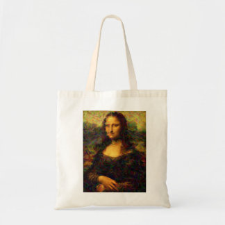 mona lisa paris tote bag