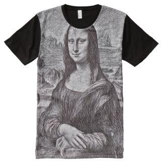 Mona Lisa Pencil Portrait All-Over-Print T-Shirt