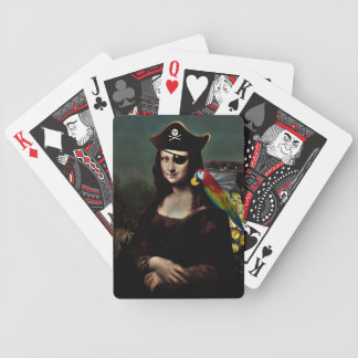 Mona Lisa Pirate Captain Bicycle Playing Cards
