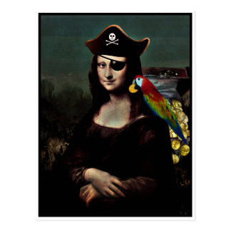 Mona Lisa Pirate Captain Postcard
