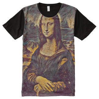 Mona Lisa Poe Portrait All-Over-Print T-Shirt