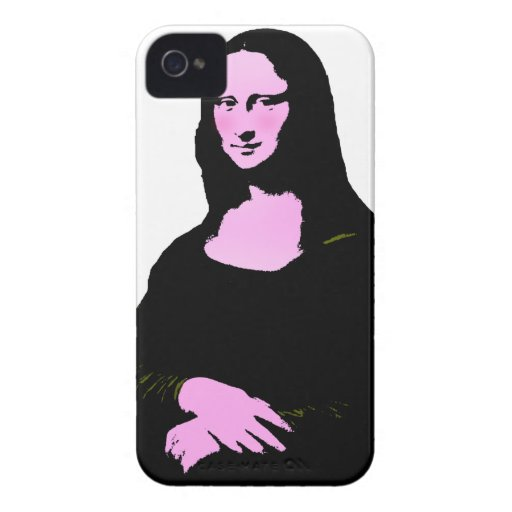Mona Lisa Pop Art Style (Add Background Color) iPhone 4 Case-Mate Case