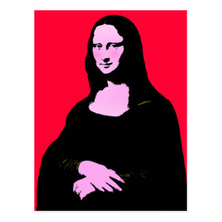 Mona Lisa Pop Art Style Postcard