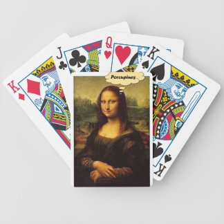 Mona Lisa Porcupines Bicycle Playing Cards