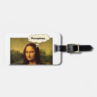 Mona Lisa Porcupines Luggage Tag