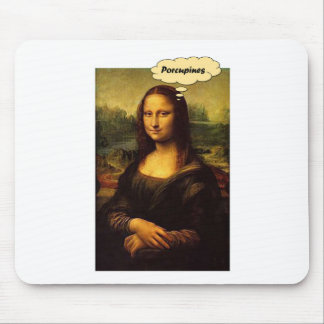 Mona Lisa Porcupines Mouse Pad