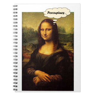 Mona Lisa Porcupines Notebook