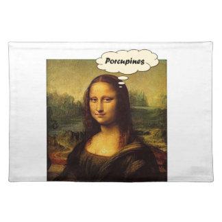 Mona Lisa Porcupines Placemat