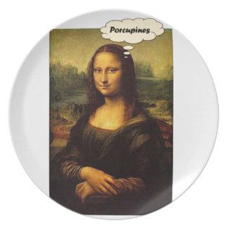 Mona Lisa Porcupines Plate