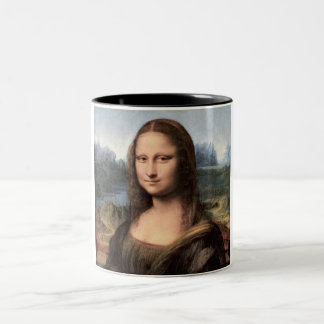 Mona Lisa Portrait / Painting Two-Tone Coffee Mug