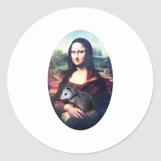 Mona Lisa Possum Classic Round Sticker