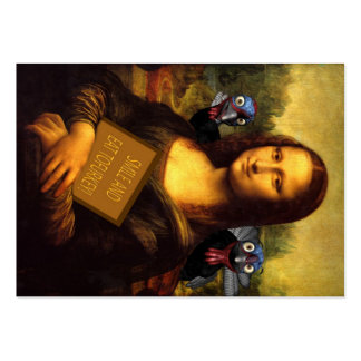 Mona Lisa Protects Turkeys Pack Of Chubby Business Cards