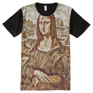 Mona Lisa Renaissance Portrait All-Over-Print T-Shirt
