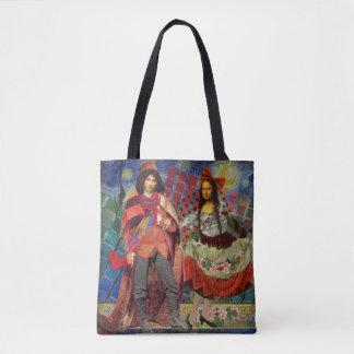 Mona Lisa Romance Tote Bag
