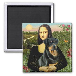 Mona Lisa - Rottweiler (#3) Square Magnet