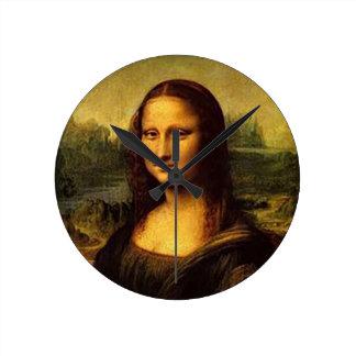 Mona Lisa Round Clock