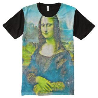 Mona Lisa Royal Acrylic Portrait All-Over-Print T-Shirt