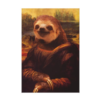 Mona Lisa Sloth Canvas Print