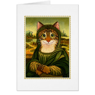 Mona Lisa Smile CAT Greetings Card