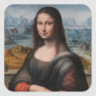 Mona Lisa Square Sticker
