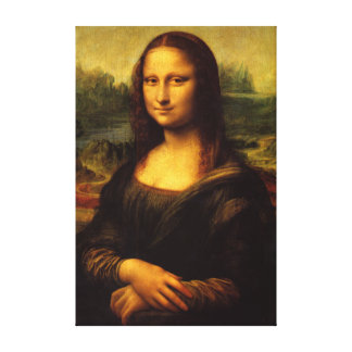 Mona Lisa Stretched Canvas Print