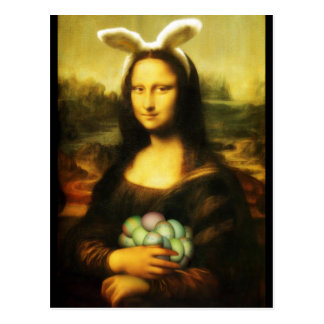 Mona Lisa, The Easter Bunny Postcard