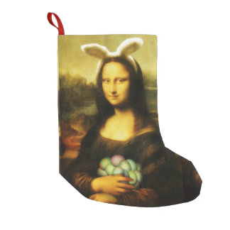 Mona Lisa, The Easter Bunny Small Christmas Stocking