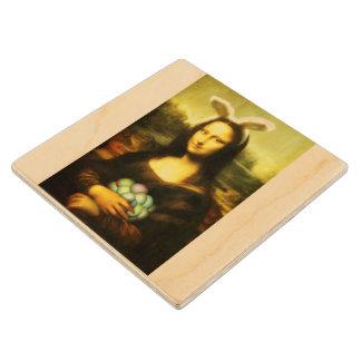 Mona Lisa, The Easter Bunny Wood Coaster