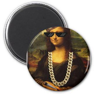 Mona Lisa Thug Life Art Life 2 Inch Round Magnet