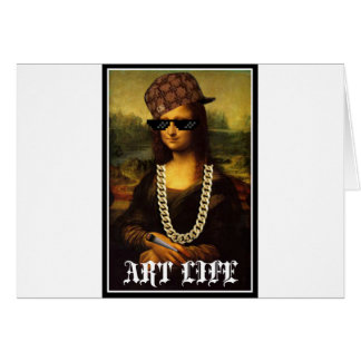 Mona Lisa Thug Life Art Life Card
