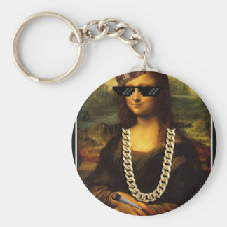 Mona Lisa Thug Life Art Life Keychain