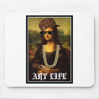Mona Lisa Thug Life Art Life Mouse Pad