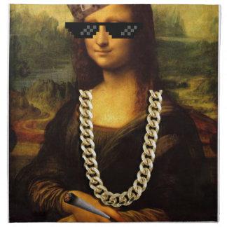Mona Lisa Thug Life Art Life Napkin