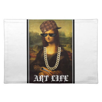 Mona Lisa Thug Life Art Life Placemat