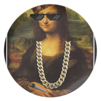 Mona Lisa Thug Life Art Life Plate