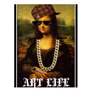 Mona Lisa Thug Life Art Life Postcard