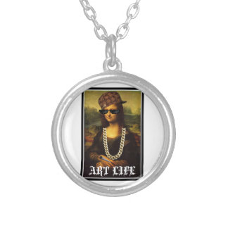 Mona Lisa Thug Life Art Life Silver Plated Necklace
