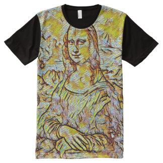 Mona Lisa Tile Portrait All-Over-Print T-Shirt